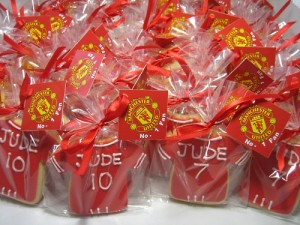 Manchester United Jersey Cookies