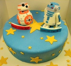 R2D2 and BB8 Cake