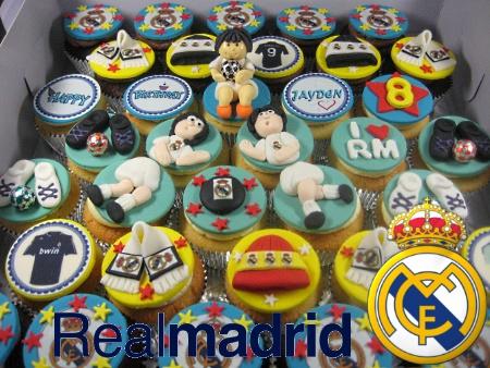 Real-Madrid-birthday- cupcakes