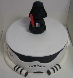 Storm Trooper Cake Face Image