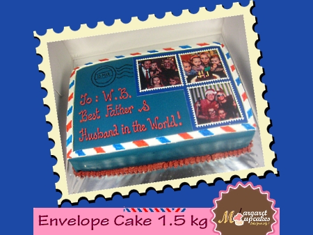 envelope-happy-birthday-themed cake