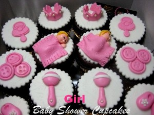 decorated-baby-girl-shower-cupcakes