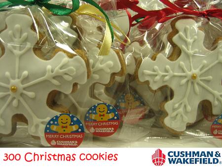 Cushman & Wakefield Christmas Snowflake Cookies