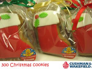Cushman & Wakefield Christmas Socks Cookies