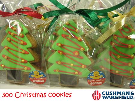 Cushman & Wakefield Christmas Tree Cookies