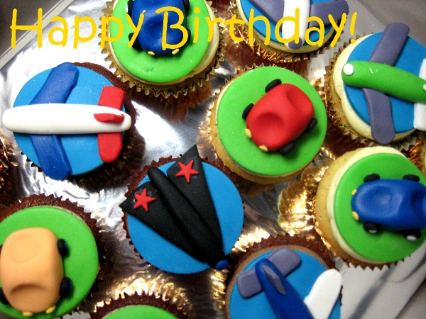 car-airplane--happy-birthday-customized-cupcakes-Singapore