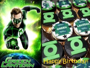 green-lantern-happy-birthday-customized-cupcakes-Singapore