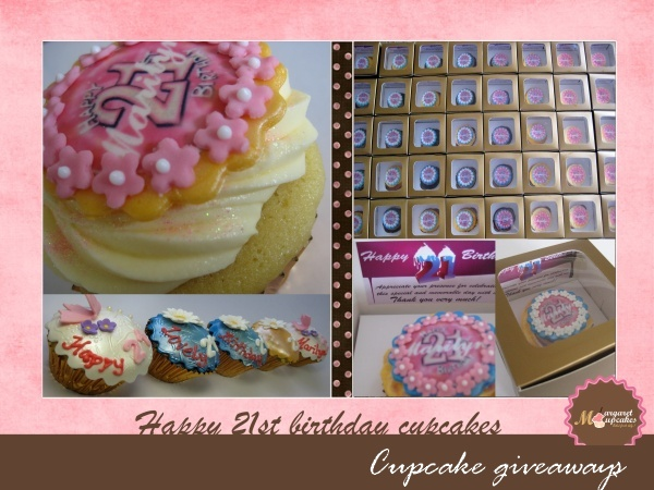 Order Online 21st Happy Birthday Customized Cupcakes