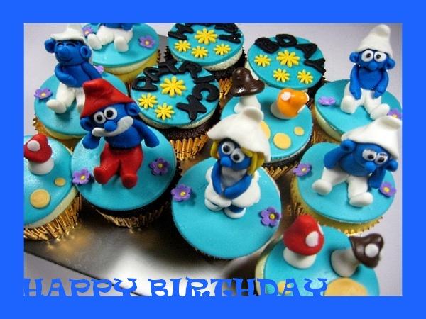 happy-birthday-smurf-customized-cupcake-order
