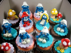 smurf-happy-birthday-cupcakes