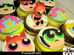 power-puff-girls-birthday- cupcakes