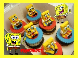 spongebob-birthday-cupcakes