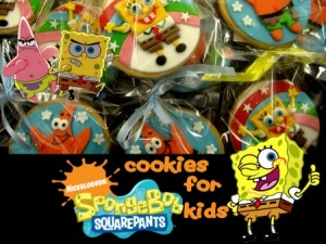 spongebob-decorated cookies