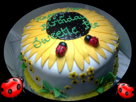 Sunflower-Happy-birthday-themed-cake