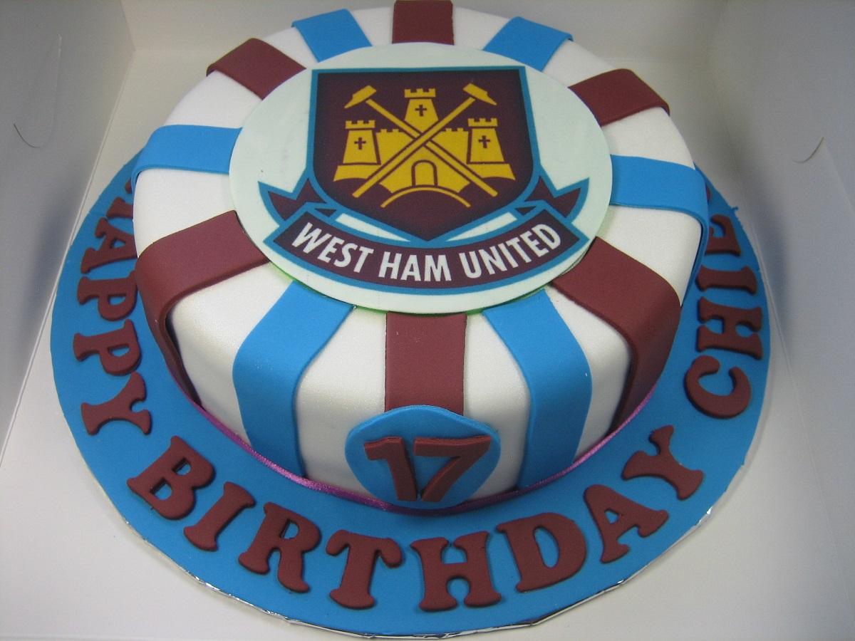West Ham Happy Birthday Themed Cake Margaretcookies