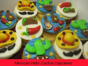 mexican-hats-cactus birthday-cupcakes