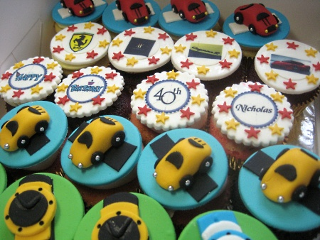 mini-car-birthday cupcakes