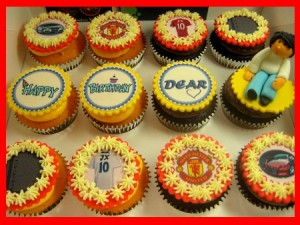 manchester-united-birthday cupcakes