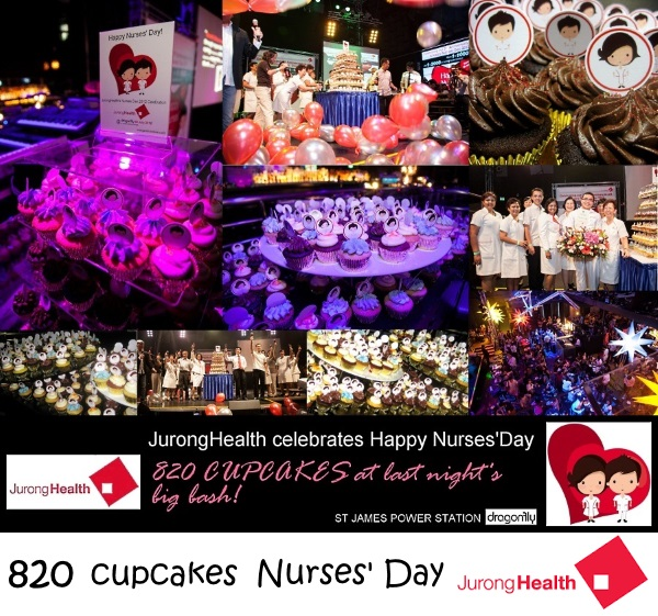 JURONG HEALTH 820 cupcakes Nurses Day celebration event