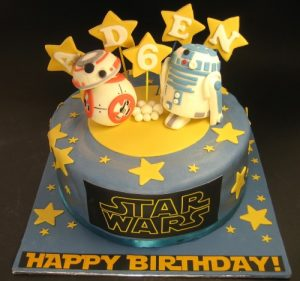 Star Wars R2D2 and BB8 Cake