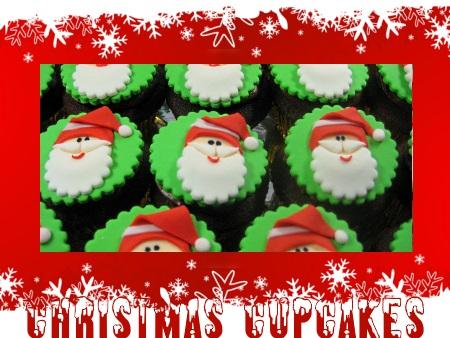 Christmas Cupcakes Santa Face