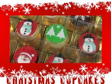 Christmas Cupcakes Snowman