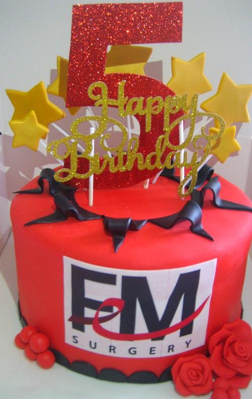 Corporate 5th Birthday Cake Margaretcookies